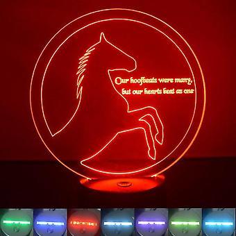 Aufzucht, Kreis-Pferdes und Zitat Farbwechsel LED Acryl Licht