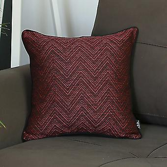Fuchsia and Black Zigzag Decorative Throw Pillow Cover