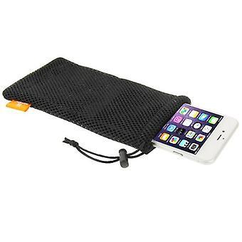 For iPhone 8 PLUS,7 PLUS,6S PLUS,6 PLUS Bag,HAWEEL Nylon Mesh Pouch,Black