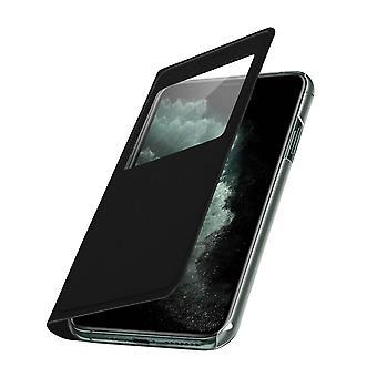 Housse iPhone 11 Pro Max Étui à Clapet Fenêtre d'affichage - Noir