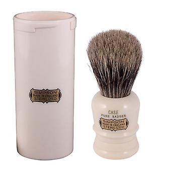 Simpsons Case Pure Badger Hair Shaving Brush + Travel Tube