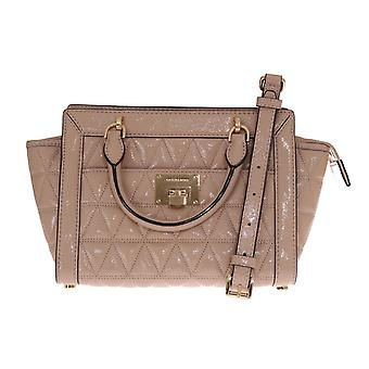 Michael Kors Beige Vivianne Patent Shoulder Bag