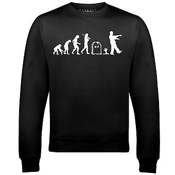 ゾンビメンズスウェットシャツの現実のグリッチの進化