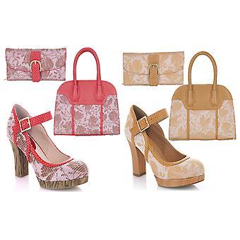 روبي شو المرأة & s كاساندرا بار الأحذية ومطابقة حقيبة كانكون ومحفظة كومو