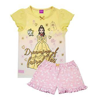 Disney krása a zviera Belle dievčatá krátke pyžamo