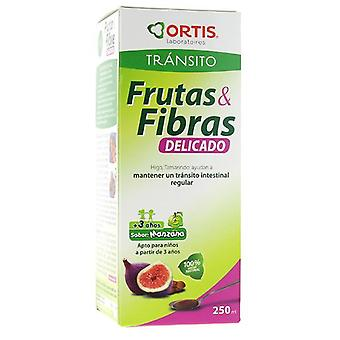 Ortis Fruit And Fiber Syrup 250Ml Delicate.