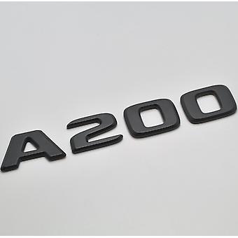 Matt schwarz A200 flach Mercedes Benz Auto Modell hintere Boot Nummer Buchstabe Aufkleber Aufkleber Abzeichen Emblem für eine Klasse W176 W177 AMG