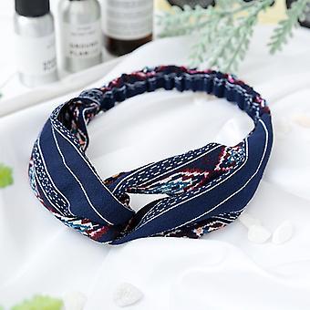 Bohemsk elastisk hårbånd med hvite linjer