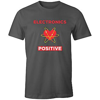 Boys Crew Neck Men-apos;s T Shirt- Electronics Are Negative But THey-apos;re Positive In My Heart Boys Crew Neck Men-apos;s T Shirt- Electronics Are Negative But THey-apos;re Positive In My Heart Boys