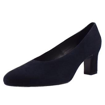 Peter Kaiser Mahirella Classic Mid Heel Court Shoes In Navy Suede