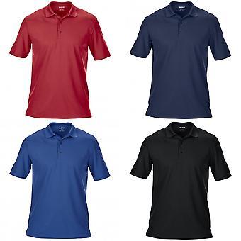 Gildan Mens Pique duplo manga curta esportes camisa Polo