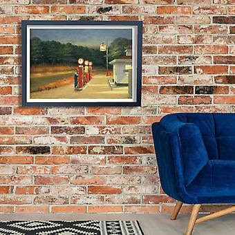 Edward Hopper - Gas Poster Print Giclee