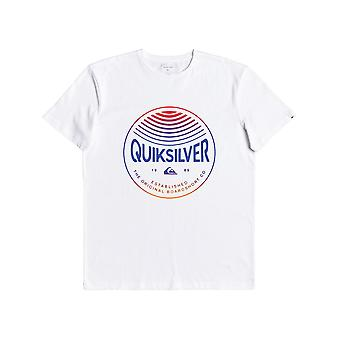 Quiksilver Men's T-Shirt ~ Clours In Stereo white