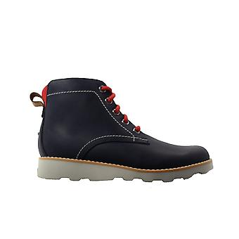 Clarks Crown Hike Kids Navy Leather Boys Lace/Zip Up Ankle Boots