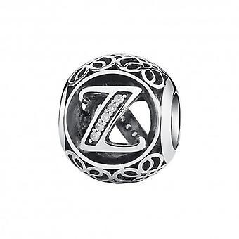 Sterling Silver Charm med Zirconia Stones Letter Z - 5761