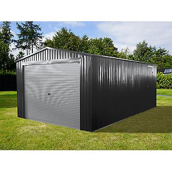 Metalgarage 3,38x5,76x2,43m ProShed®, Antracit