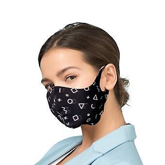 Máscara protetora com íons prateados Filtro Antibacteriano - Geométrico