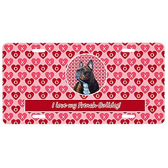 Carolines Treasures  LH9160LP French Bulldog Valentine's Love and Hearts License