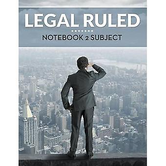 Legal Ruled Notebook 2 Subject by Publishing LLC & Speedy