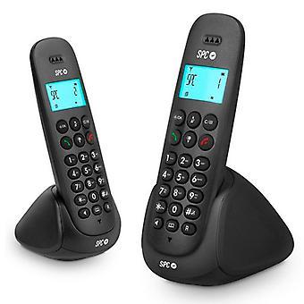 Téléphone sans fil DUO Telecom 7312N DECT Noir