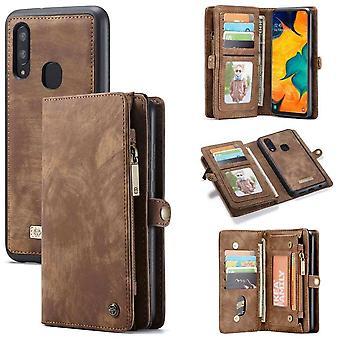 CaseMe Vintage Wallet Case Hoesje Samsung Galaxy A40 (SM-A405) - Zwart