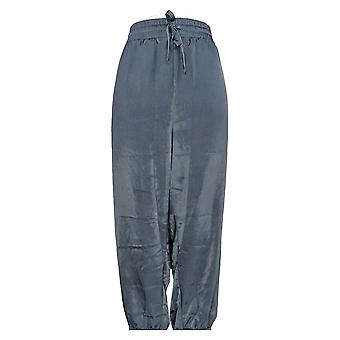 Anybody Women's Petite Pants Satin Joggers Blue A345513
