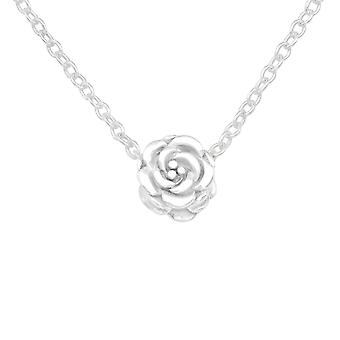 Rose - 925 Sterling Silver Plain Necklaces - W17455x