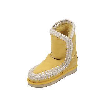 Mou ESKIMO Kids Girls Boots Yellow Lace-Up Boots Winter