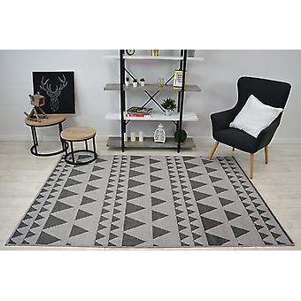 Rug SENSE Micro 81243 TRIANGLES silver/anthracite