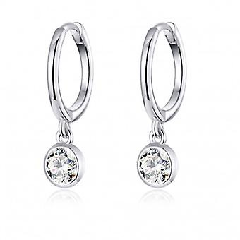 Silver Earrings Waterdrop - 6553