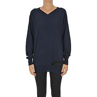 Maison Margiela Ezgl038127 Women's Blue Cashmere Sweater
