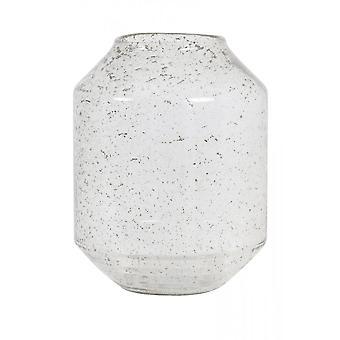 Ljus och levande vas 23x30.5cm Sogoda Glas Sten Finish Klar