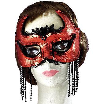 Elle diable demi-masque pour Halloween