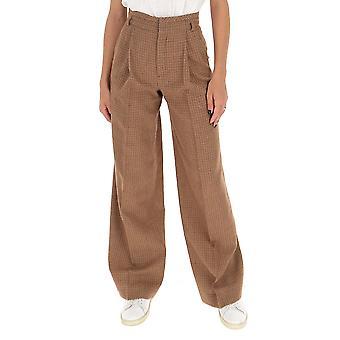 Chloé Chc20apa4816395f Women's Brown Cotton Pants