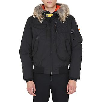 Parajumpers Pmjckmg05p04541 Men's Black Polyester Outerwear Jacket
