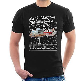 Thunderbirds alles, was ich für Weihnachten will, ist Thunderbird 5 Männer's T-Shirt