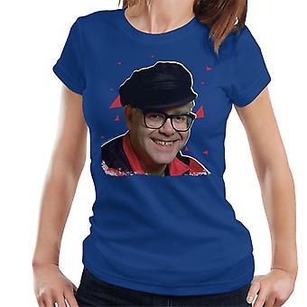 TV kertaa laulaja Elton John 1989 naisten t-paita