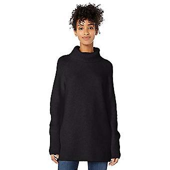 Brand - Goodthreads Women's Boucle Turtleneck Sweater, Black, X-Small