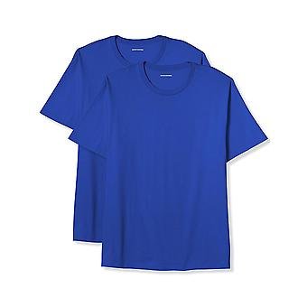 Essentials Men's Big & Tall 2-Pack Short-Sleeve Crewneck T-Shirt, blau, 2X groß