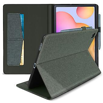 Samsung Galaxy Tab S6 Lite Flip Case with Stand Function and Wallet - Gray