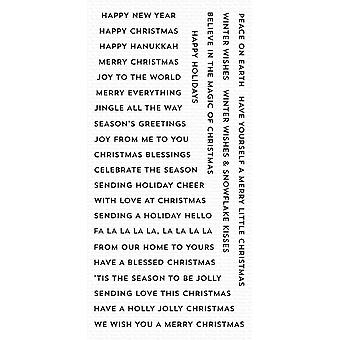 """My Favorite Things Clearly Sentimental Stamps 4""""X8"""" - Bitty Holiday Wishes"""