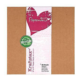 Papermania 8x8 Tuuman Kraftstax (20pk) (PMA 160600)