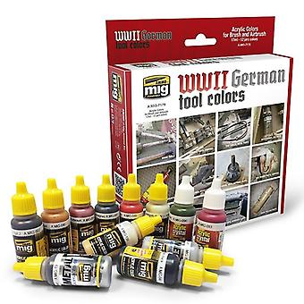 Ammo by Mig German Tools Colors Acrylic Paint Set