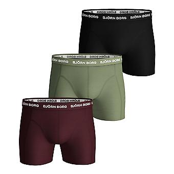 Bjorn Borg Men's Boxer Shorts 3 Pack ~ Seasonal Solids mixed