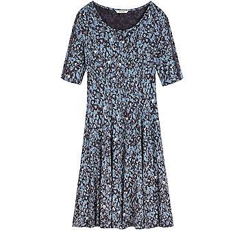 Sandwich Clothing Blue Patterned Jersey Dress