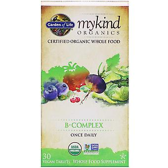 Garden of Life, MyKind Organics, B-Complex, 30 Vegan Tablets
