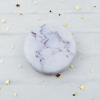 1pcs Marble Pattern Portable Double Sided Mirror Foldable Pocket Makeup Mirror For Women Girls