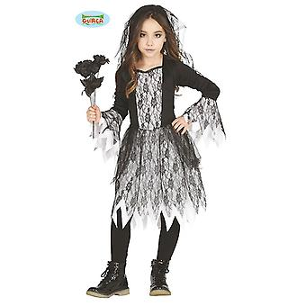 Ghosts girl costume for kids Gothic bride Halloween costume