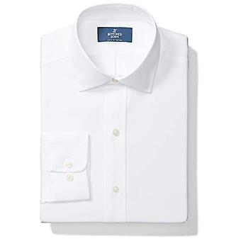 "BUTTONED DOWN Men's Classic Fit Spread Collar Solid Non-Iron Dress Shirt (No Pocket), White, 16"" Neck 34"" Sleeve"