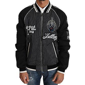 Dolce & Gabbana Black Dd58 Sg62 Sequined Beaded Jacket JKT2241-52